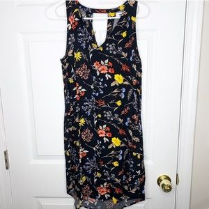 Old Navy floral dress cutout back
